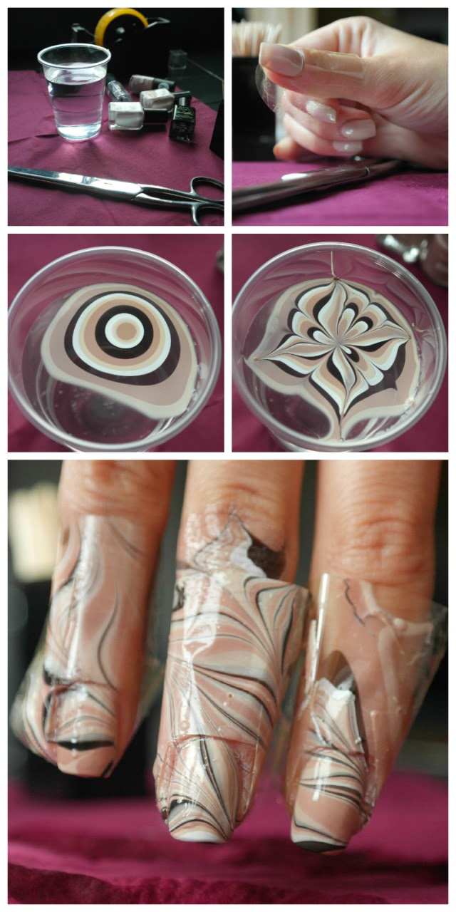 how to water marble nail art
