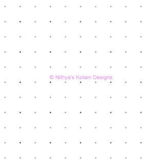 1 Deepam Kolam  dots 10 x 10
