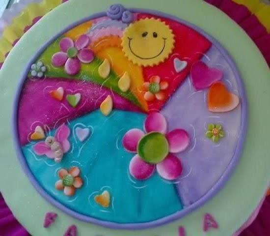 Tortas y decoraciones composici n para ni a pintada a mano for Decoracion de tortas para ninas