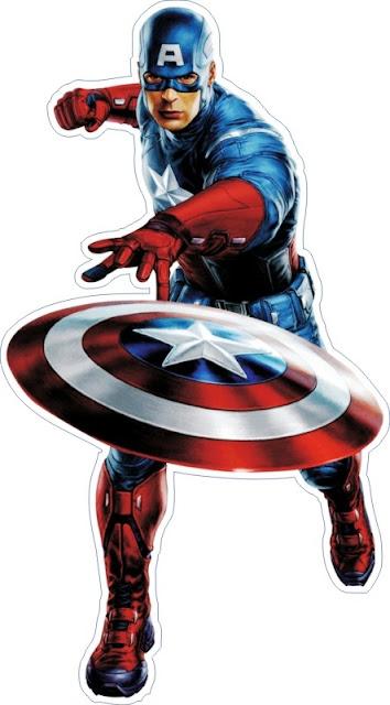Desenho Os Vingadores Colorido Capitão América