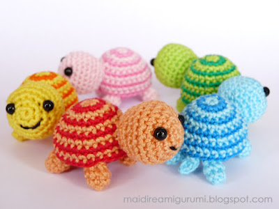 Amigurumi Tutorial Tartaruga : Mai Dire Amigurumi: Tartarughine - serie colorata