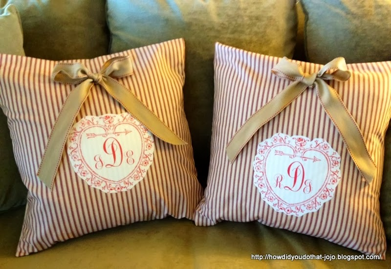 How d you do that valentine slip covers for throw pillows