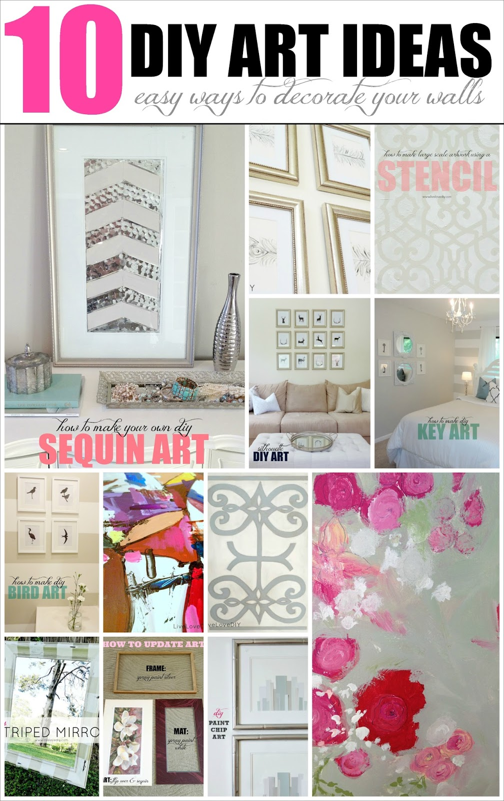 Follow ...  sc 1 st  LiveLoveDIY & LiveLoveDIY: 10 DIY Art Ideas: Easy Ways to Decorate Your Walls!