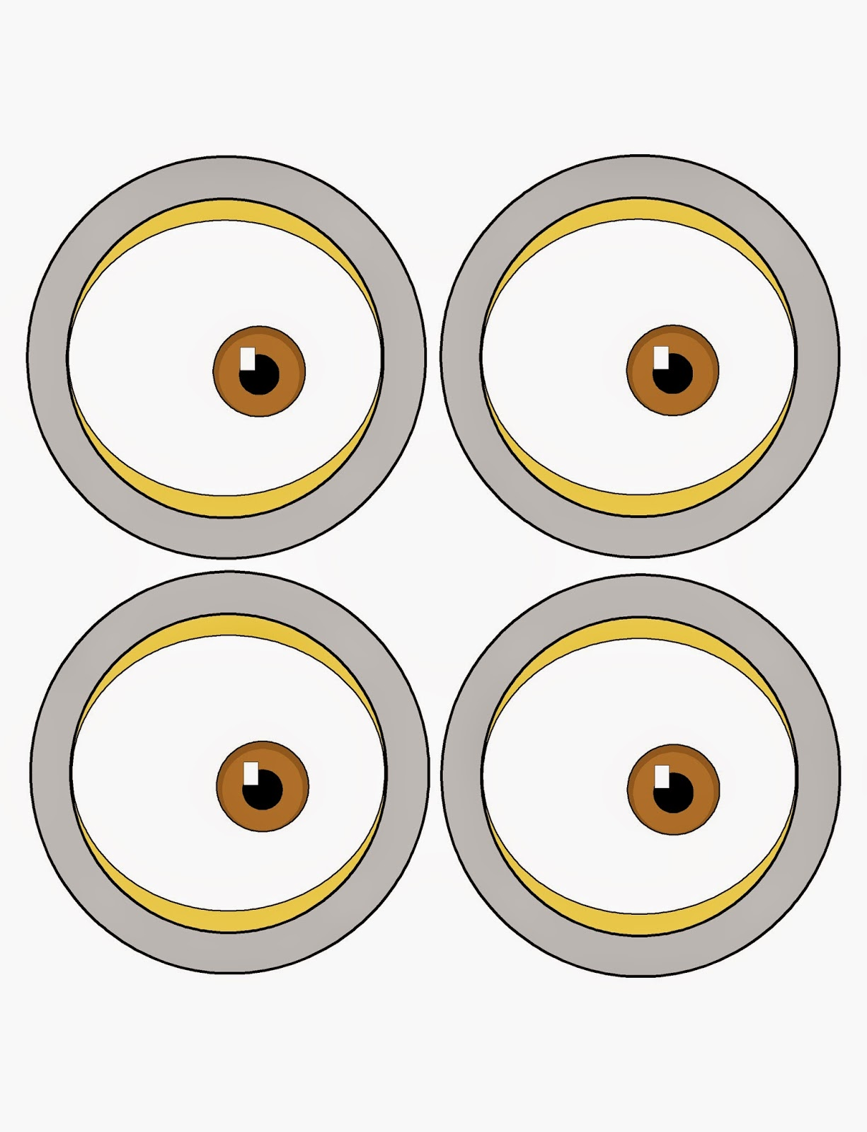 Punchy image regarding minion eye printable