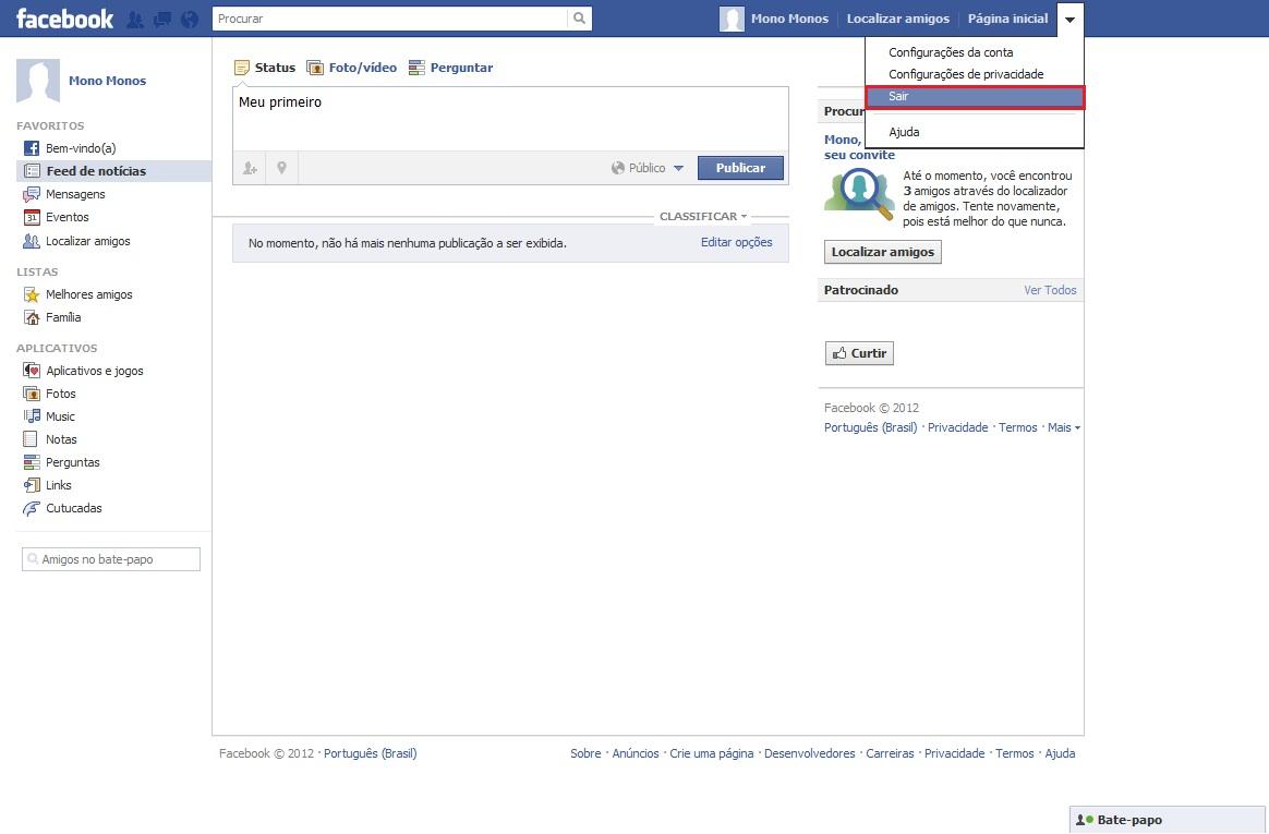Agora você aprendeu a como entrar no facebook