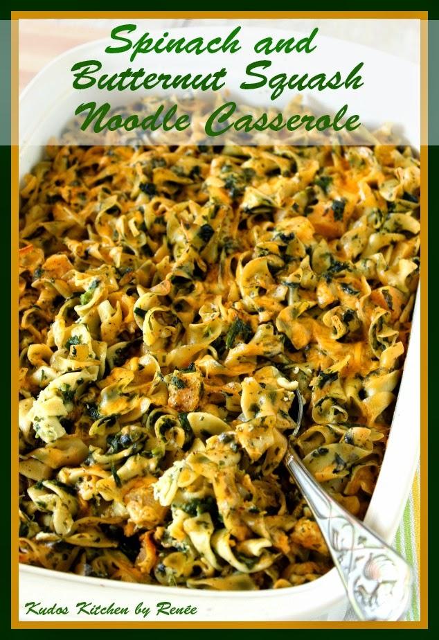 Spinach and Butternut Squash Noodle Casserole Recipe