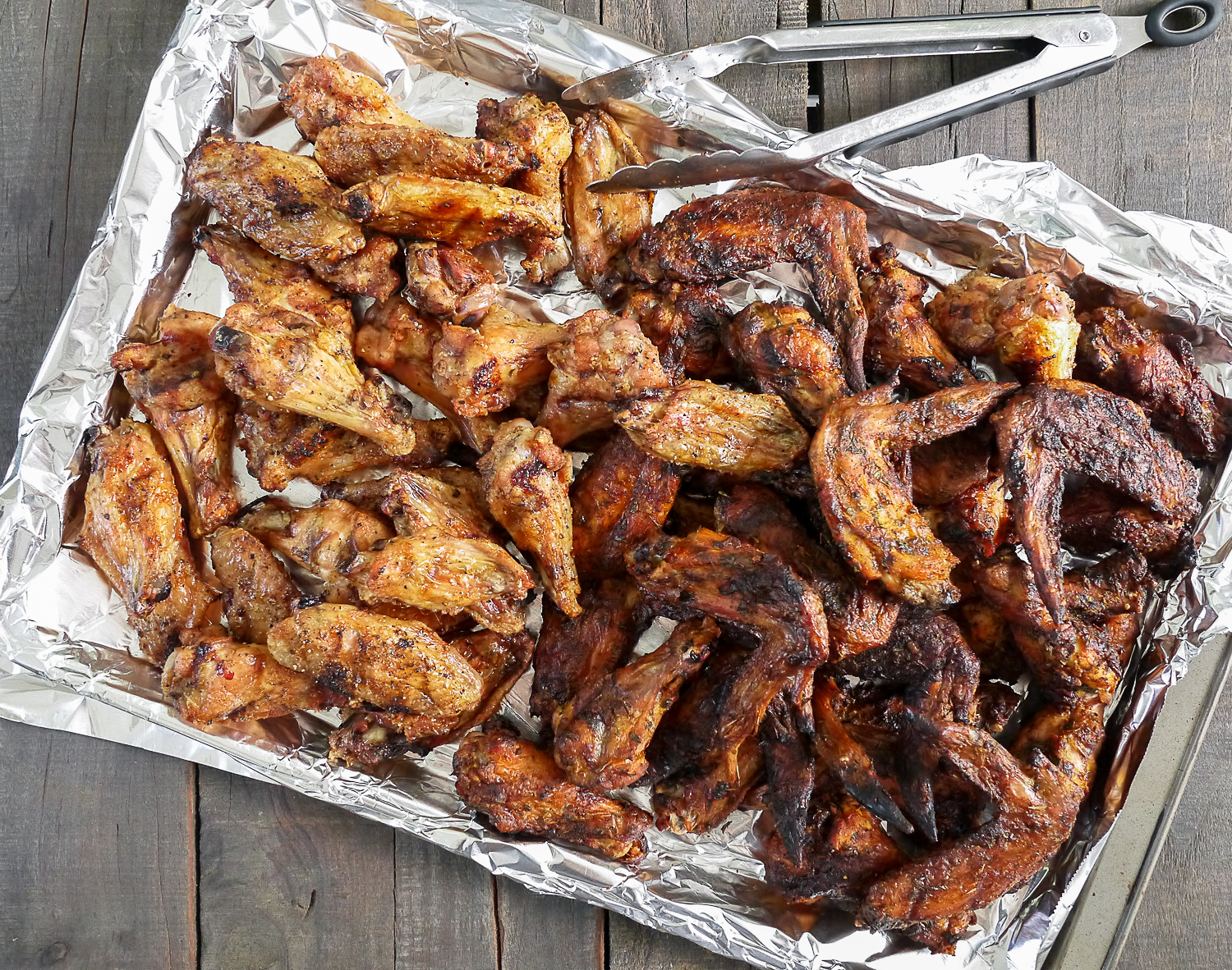 In case you notice the different color, the darker wings are the Spicy ...