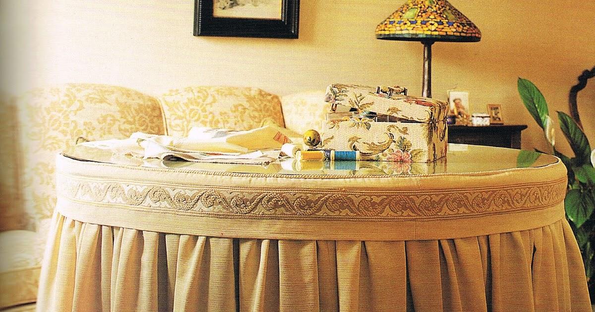 Patrones de costura falda fruncida para camilla redonda - Mesa camilla redonda ...