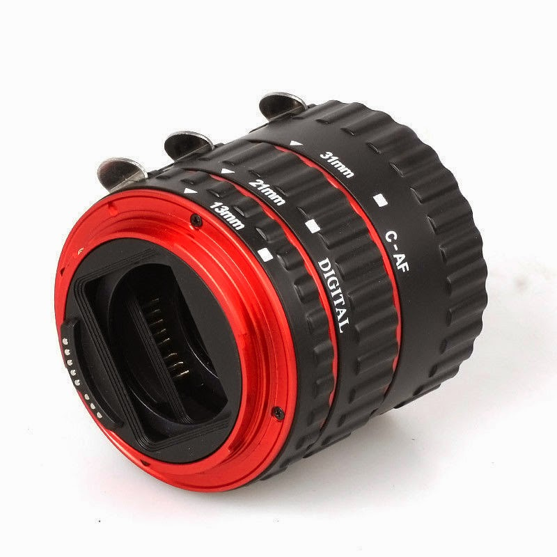 AF Auto Focus Macro Extension Tube Set for Canon EOS EF EF-S DSLR Camera Red