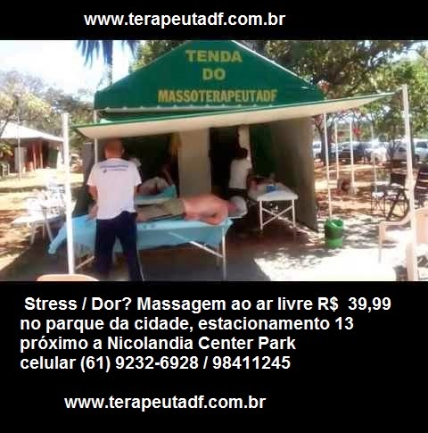 Massagem no parque