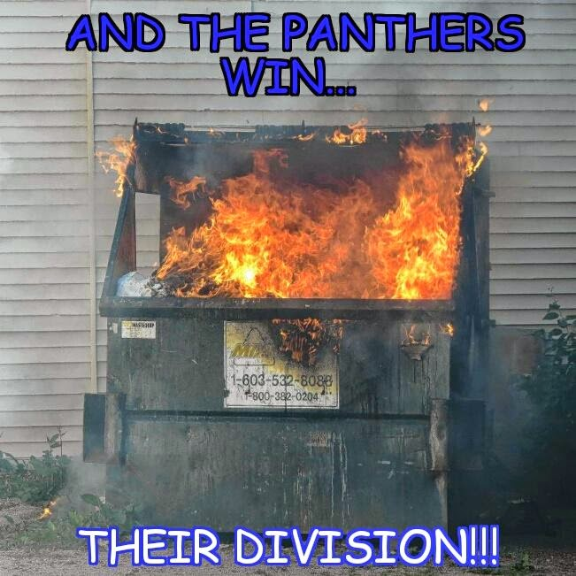 and the panthers win... their division!!!