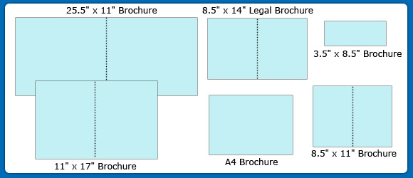 sizes of brochures
