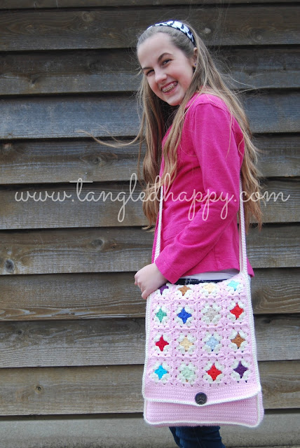 granny square cross-body bag free crochet pattern