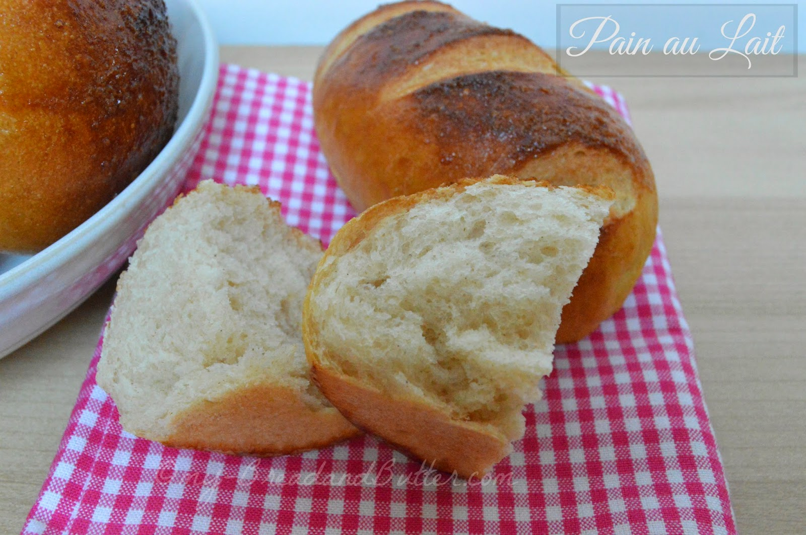 Pain au lait with honey