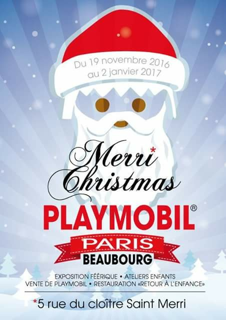 Merri Christmas Playmobil - Paris Beaubourg