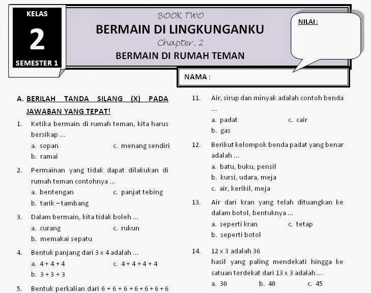 Kelas 2 Download Latihan Soal Tematik 2 Subtema 2 Rief Awa Blog Download Kumpulan Soal