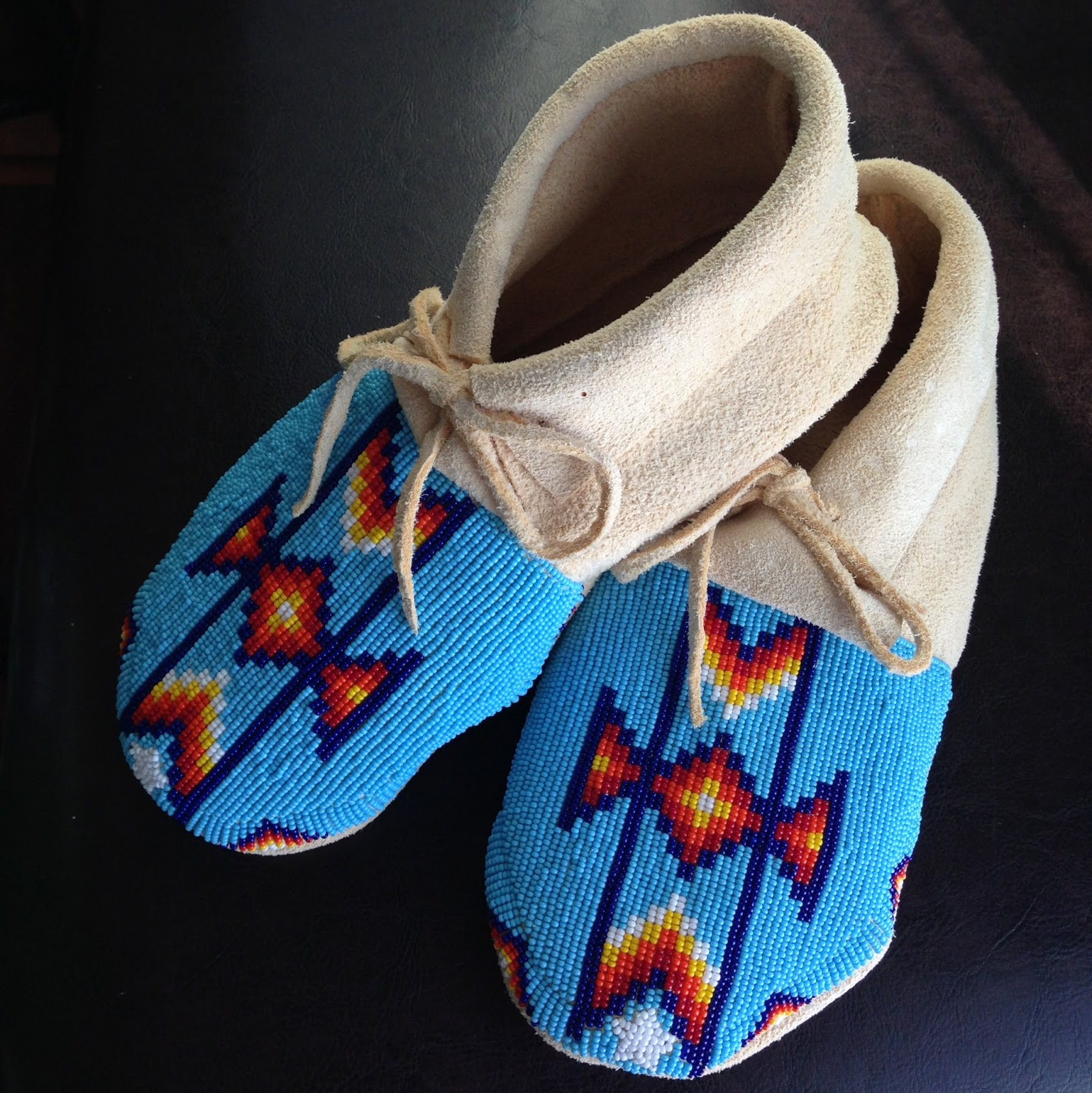 creative boutique s fully beaded moccasins