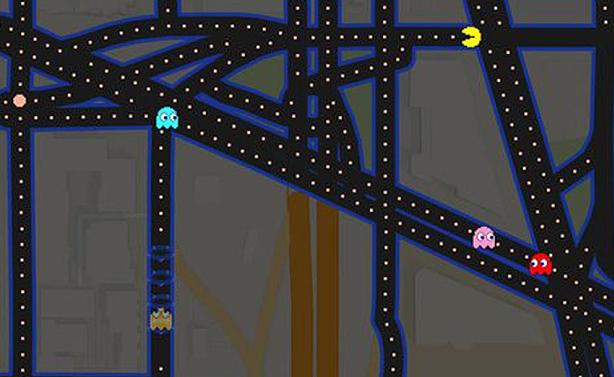 Pacman,Google Maps ,Pacman on Google Maps
