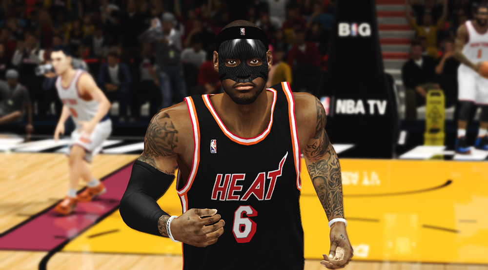 NBA 2K14 LeBron James with Black Mask