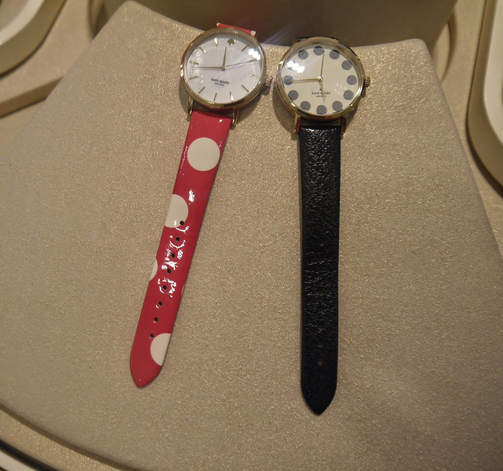 Colourful Kate Spade Watches on Display