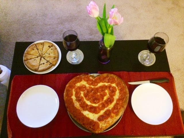 valentine's day heart shaped pizza