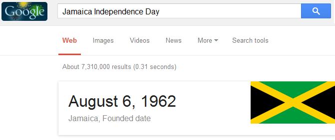 Logo Google Doodle Perayaan Hari Merdeka Jamaikan ke 53 Di Search Engine www.google.com.jm