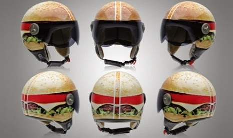Semakin Gaya dengan Helm Burger