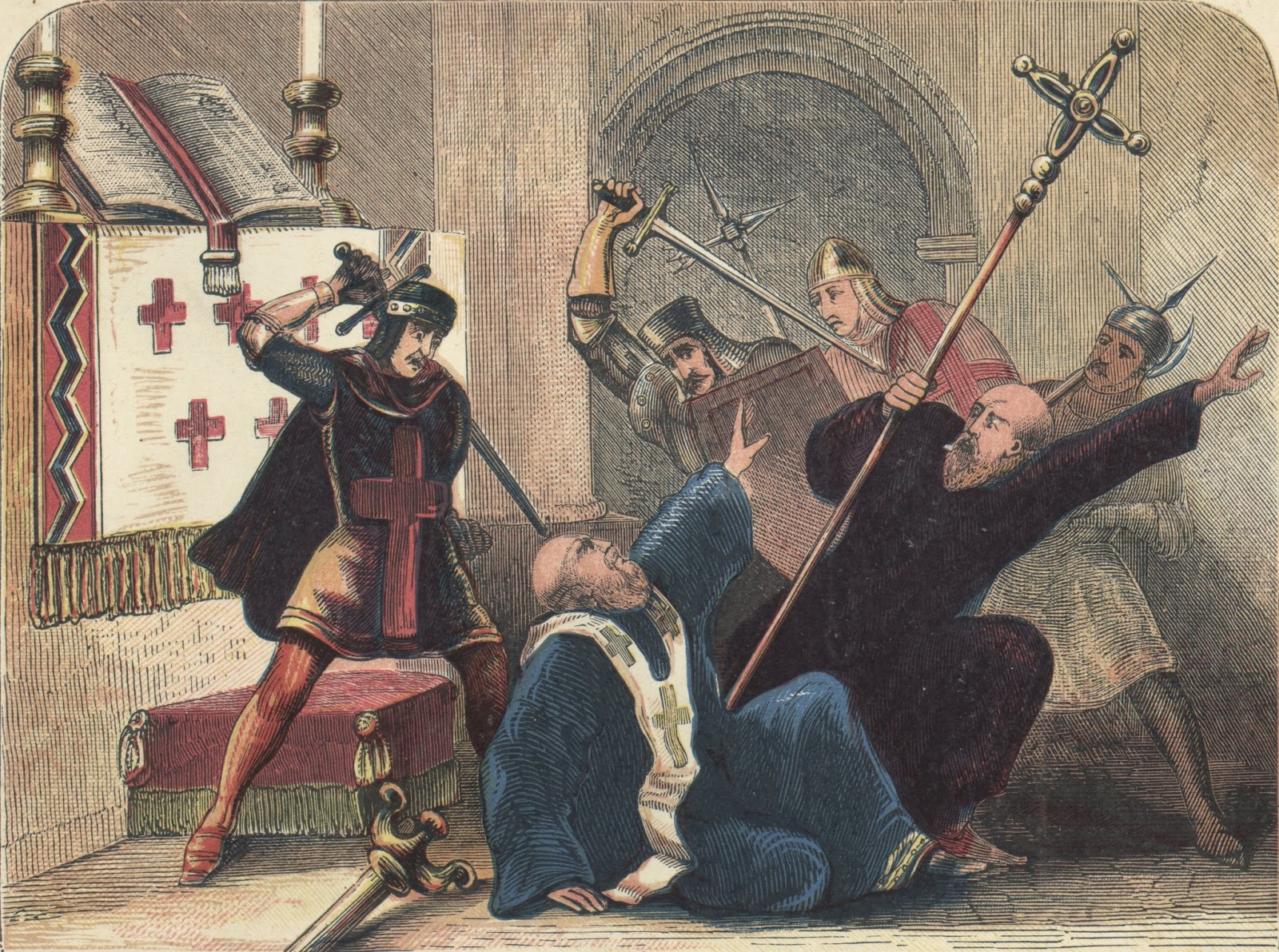 an analysis of the life and death of saint thomas becket Life and death thomas becket was originally a close friend of henry ii in fact, henry appointed thomas to be the archbishop of canterbury, although thomas told him that this appointment would.