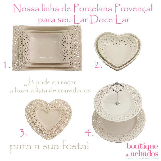 objetos de decoração, artigos de decoração, porcelana provençal