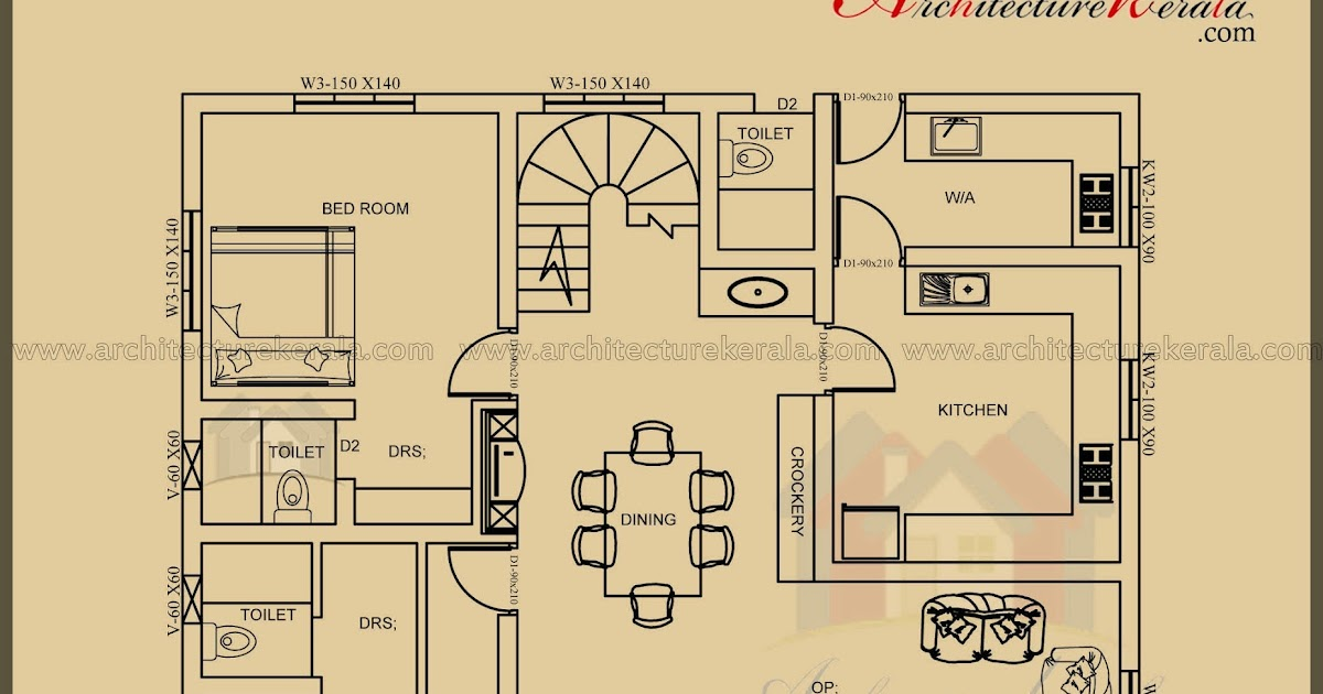 2500 sq ft 3 bedroom house plan with pooja room for 2500 sq ft house plans in kerala
