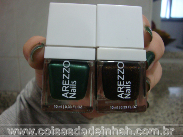 esmaltes arezzo oxy green black colorful
