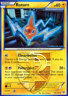 Rotom Plasma Storm Pokemon Card