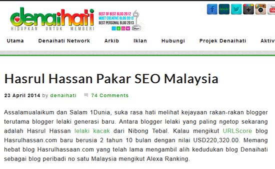 hasrulhassan pakar seo malaysia - blog blogspot