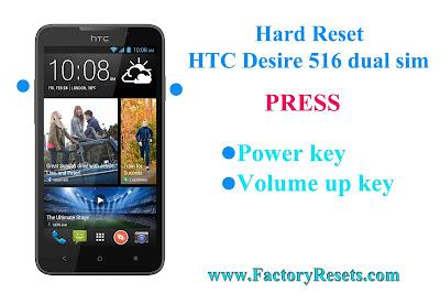 Hard Reset HTC Desire 516 dual sim