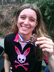 Nadja representing on the 2012 Muddbunnies Racing Team!