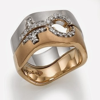 buy 14k Rose and White Gold Female Combination Ring