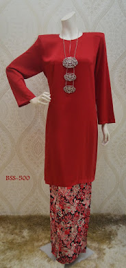 BAJU KURUNG BELLA SENORITA sPECIAL SERIES - SPECIAL EDITION - RED CHILI