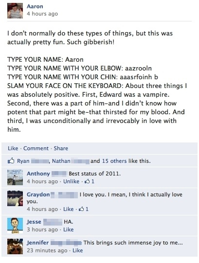 Such Gibberish! - Best Facebook Status Of 2011
