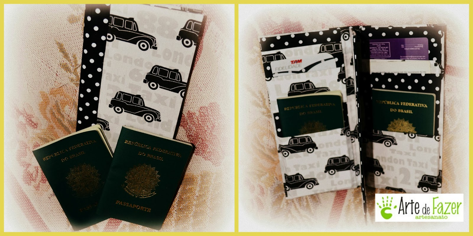 Porta Passaporte em cartonagem