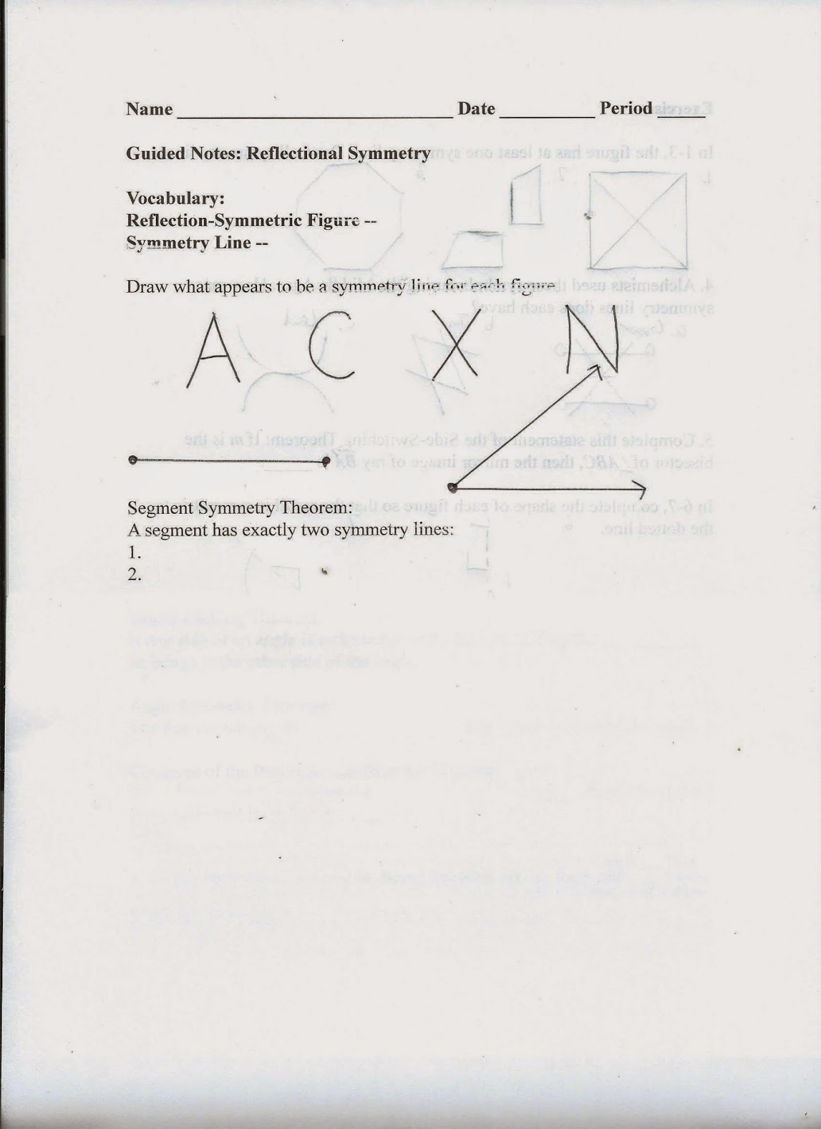 Geometry Common Core Style September 2014 – Indirect Proof Worksheet