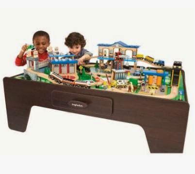 imaginarium classic train table with roundhouse wooden train set instructions