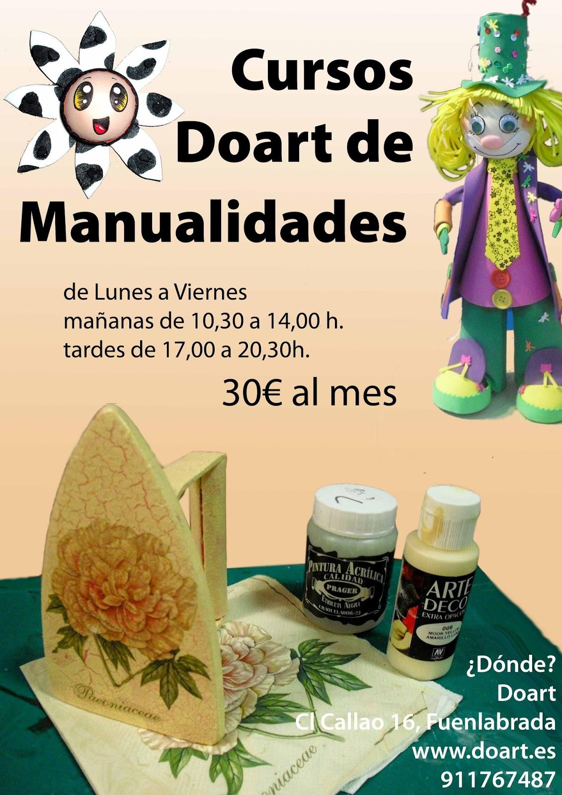 Curso de manualidades doart doart bellas artes y - Clases de manualidades en madrid ...