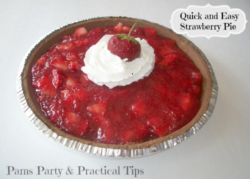 easy strawberry pie, quick desserts