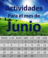 ACTIVIDADES PARA EL MES DE JUNIO