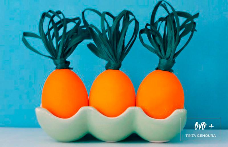 Ideia criativa para ovo de Páscoa: cenoura