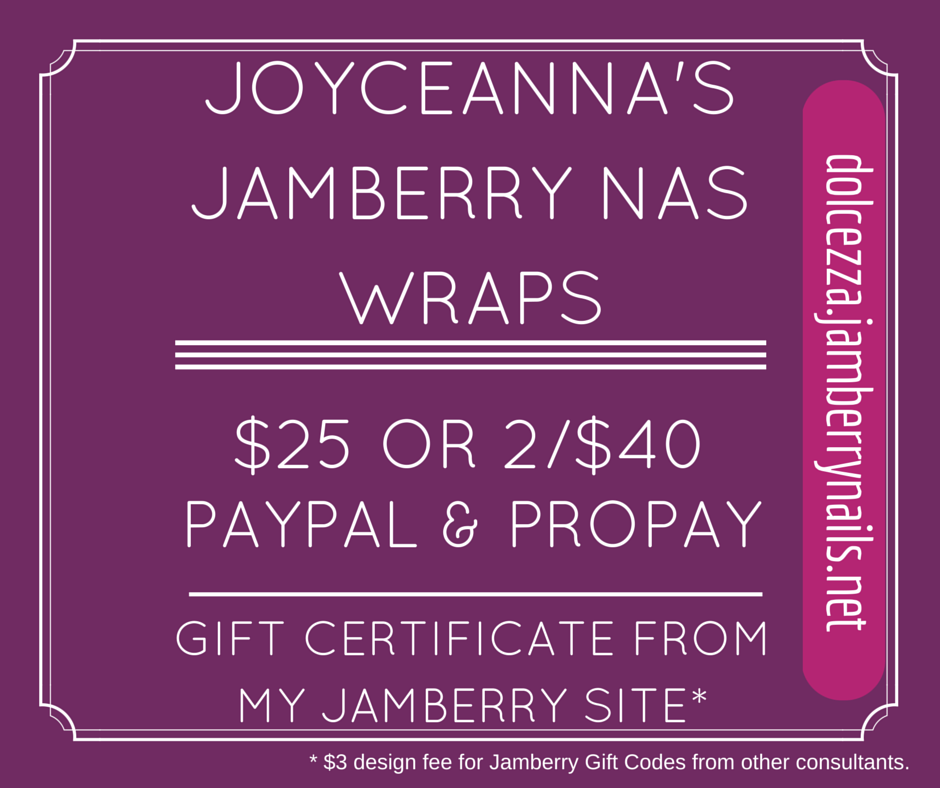 Design Dolcezza: Jamberry Nail Art Studio Designs by JoyceAnna
