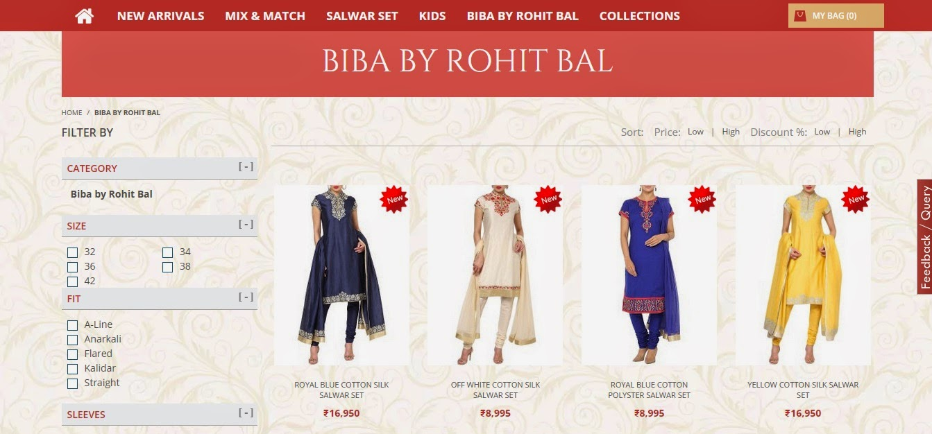 Review - BIBA India Online Shopping Website | Buy Ethnic Wear ...