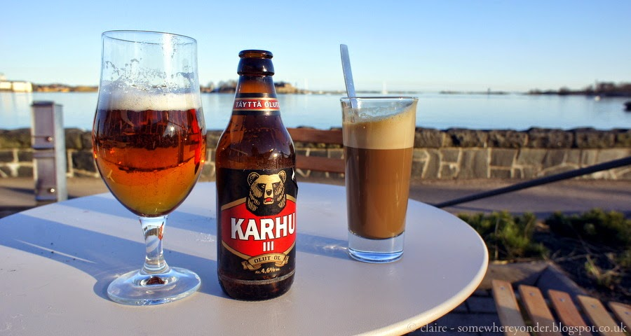 Beer and coffee - Helsinki water front