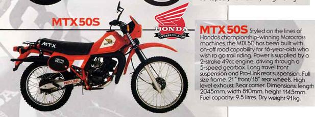 honda MTX50S 1984 title=