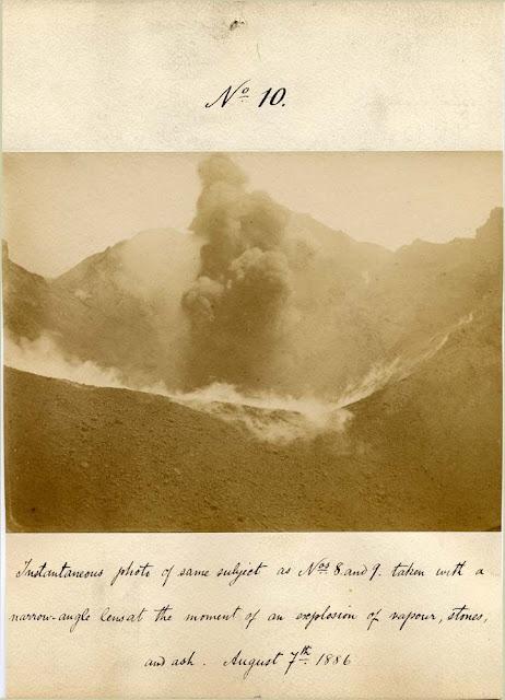 Vesuvius eruption August 7th 1886 by  H.J. Johnston-Lavis